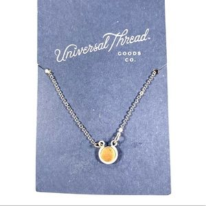 Universal Thread Circle Inlay Necklace Gold Silver